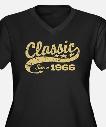 Classic Since 1966 Women's Plus Size V-Neck Dark T