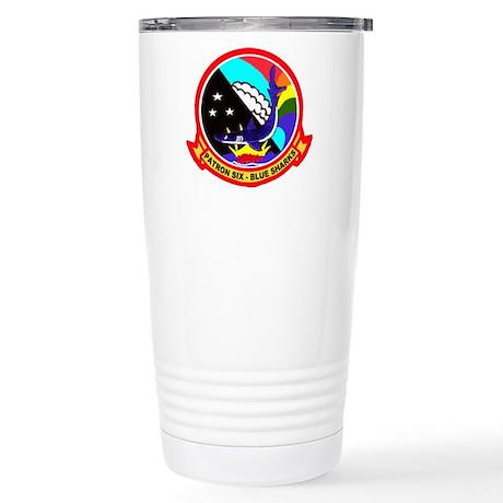 VP 6 Blue Sharks Stainless Steel Travel Mug