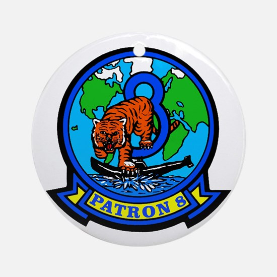 VP 8 Tigers (Blue) Ornament (Round)