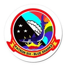 VP 6 Blue Sharks Round Car Magnet