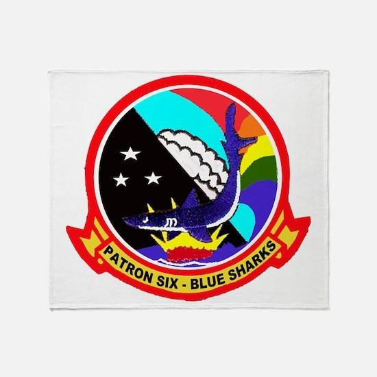 VP 6 Blue Sharks Throw Blanket