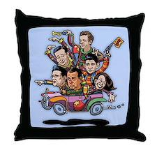 GOP '14 Clownville Brougham Throw Pillow