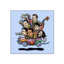 "GOP '14 Clownville Brougham Square Sticker 3"" x 3"""