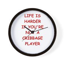 cribbage Wall Clock