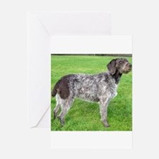 german wirehaired pointer liver full Greeting Card