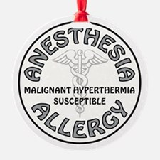 ANESTHESIA ALLERGY Ornament