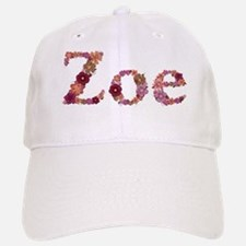 Zoe Pink Flowers Baseball Baseball Baseball Cap