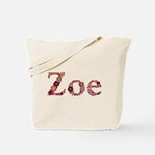 Zoe Pink Flowers Tote Bag