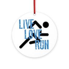 Live, Love, Run Ornament (Round)