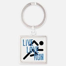 Live, Love, Run Keychains