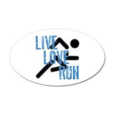 Live, Love, Run Wall Decal
