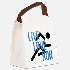 Live, Love, Run Canvas Lunch Bag