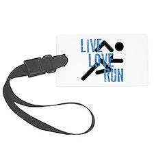 Live, Love, Run Luggage Tag