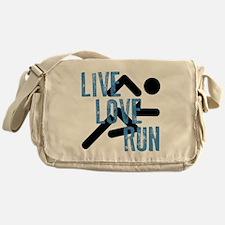 Live, Love, Run Messenger Bag