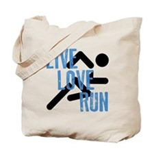 Live, Love, Run Tote Bag