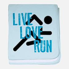 Live, Love, Run baby blanket