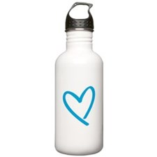 blue heart.jpg Water Bottle