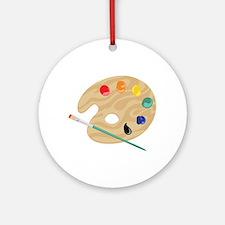 Painters Palette Ornament (Round)