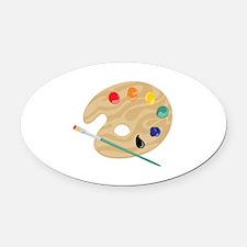 Painters Palette Oval Car Magnet