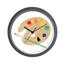 Painters Palette Wall Clock