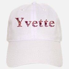Yvette Pink Flowers Baseball Baseball Baseball Cap