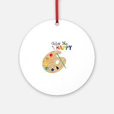 Color Me Happy Ornament (Round)