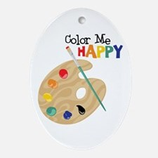 Color Me Happy Ornament (Oval)