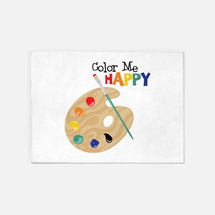 Color Me Happy 5'x7'Area Rug