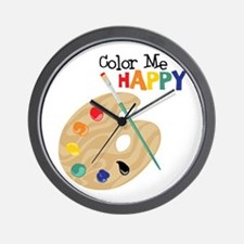 Color Me Happy Wall Clock