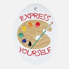 Express Yourself Ornament (Oval)