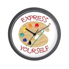 Express Yourself Wall Clock