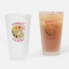 Express Yourself Drinking Glass