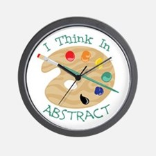 I Think In Abstract Wall Clock