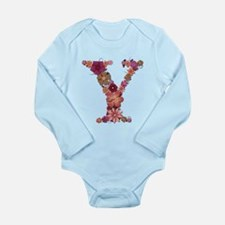 Y Pink Flowers Body Suit