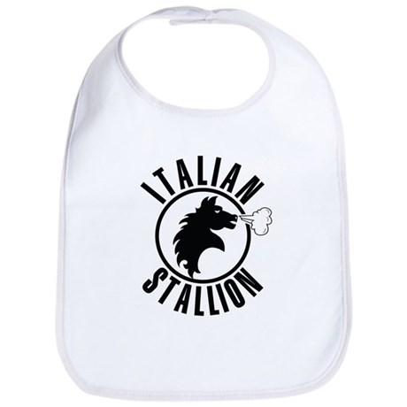 Italian Stallion (black print Bib