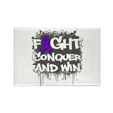 Cystic Fibrosis Fight Rectangle Magnet