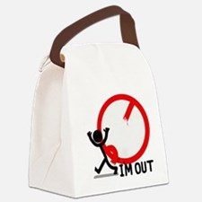 Im Out! Canvas Lunch Bag