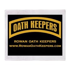 Rowan Oath Keepers Throw Blanket