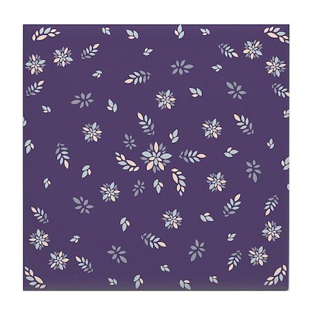 Purple Floral Tile Coaster