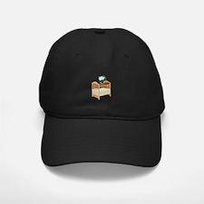 Crib with Sky Mobile Baseball Hat