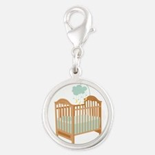 Crib with Sky Mobile Charms