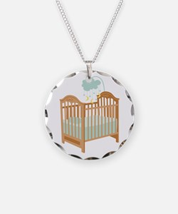 Crib with Sky Mobile Necklace