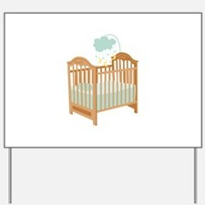 Crib with Sky Mobile Yard Sign