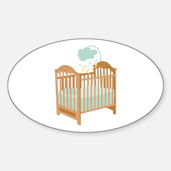 Crib with Sky Mobile Decal