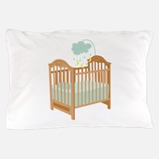 Crib with Sky Mobile Pillow Case