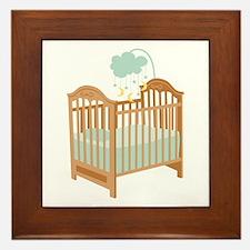 Crib with Sky Mobile Framed Tile