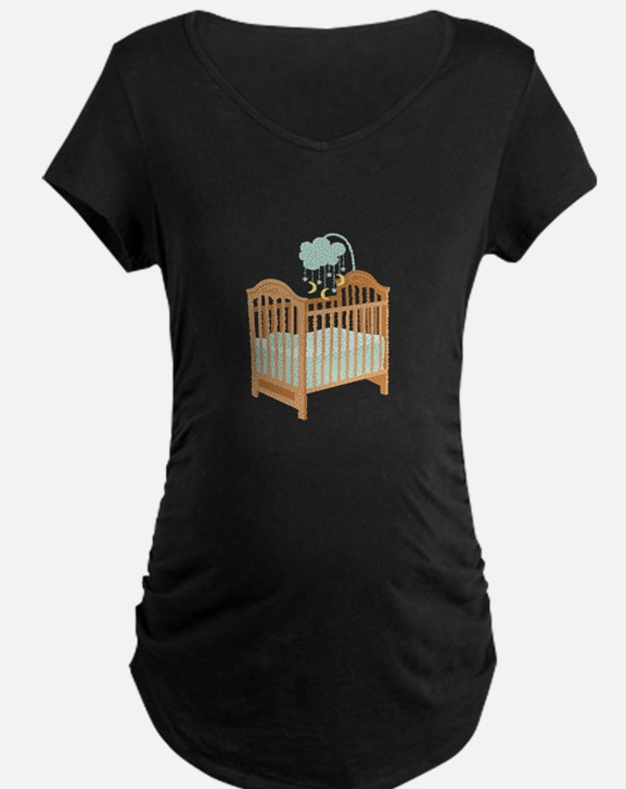 Crib with Sky Mobile Maternity T-Shirt