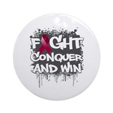 Amyloidosis Fight Ornament (Round)