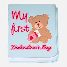 My First Valentines Day baby blanket