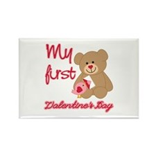 My First Valentines Day Rectangle Magnet